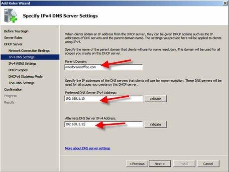 Nhập vào các thông tin miền và DNS