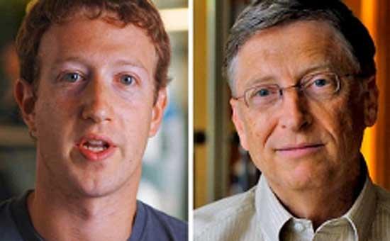 Mark Zuckerberg thần tượng Bill Gates.